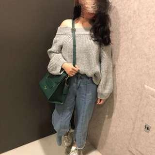 針織平口毛衣