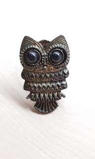 Cute adjustable owl ring