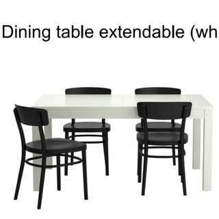 IKEA Bjursta/Idolf Set Meja makan