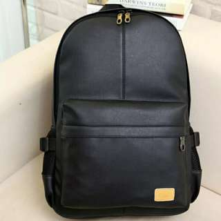 Vintage College Wind Pu Large Capacity Korean High School Backpack Shoulder Bag Lovers Package Backpack Polyester Fiber Material Beautiful Fashion Bags for Women Girls