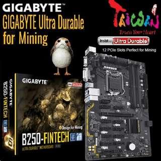 Gigabyte B250 Fintech 12GPU Mining Motherboard..