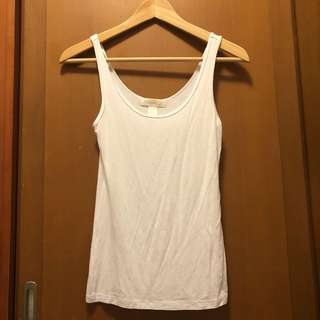 Size S Forever 21 White Top 白色 背心 棉
