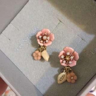 (二手)les Nereides 花朵珐瑯耳環