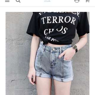 🚚 Aachic復古刷色牛仔短褲