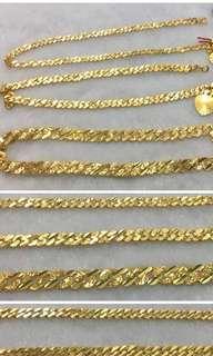 916 gold bracelet solid type 18cm
