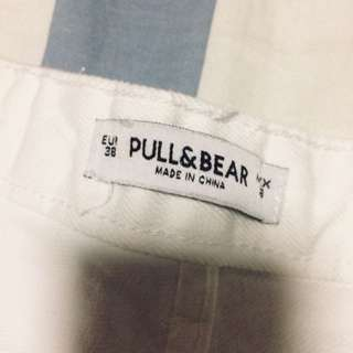 [WTS] PULL&BEAR RIPPED WHITE HIGH WAISTED JEANS