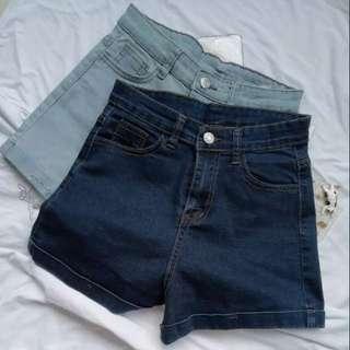 🚚 歐美高腰捲邊短褲
