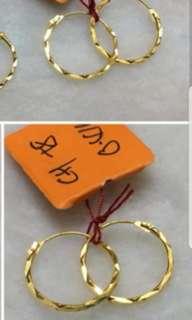 916 gold earring 1.2cm size
