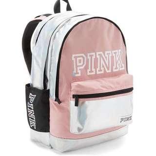 (9.9成新)維多利亞的秘密Victoria's secret -PINK 筆電 校園後背包