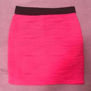 Forever 21 - Neon Pink Bandage Skirt