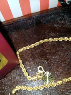 👉COD Avail👈916 Gold Rope Size 4 Bracelet 17.5cm