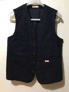Sugar cane vest denim size M freewheelers toys mccoy take 5 Pherrows