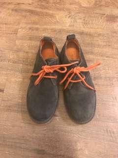 Florsheim Kids Dark Brown Suede Shoes