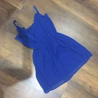 Zara Blue Embroidered Dress