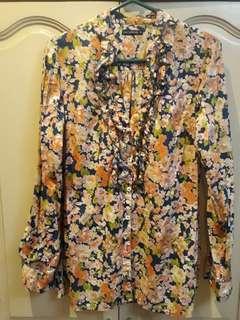 Terranova Floral Long Sleeved Blouse
