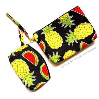 FREE NORMAL MAIL Watermelon Pineapple Multi Purpose Bags 1 set
