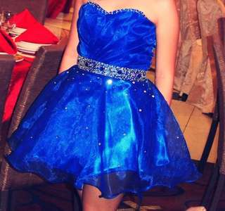 Blue Cocktail Gown