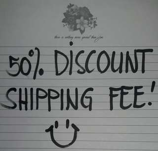 50%disc. Shipping fee! Plz. read Description😊