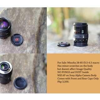 Minolta 28-85mm f3.5-4.5 macro for sony alpha mount camera