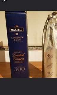 馬爹利藍帶干邑300週年特別限量紀念版700mI連盒,香港行貨。