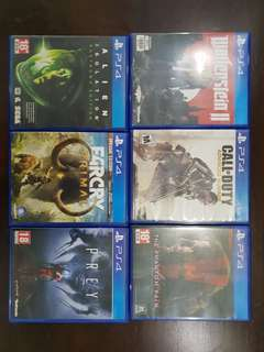 PS4 games $18 each