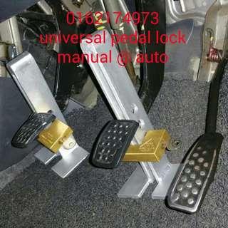 PEDAL LOCK UNIVERSAL    ➡AUTO@MANUAL  ➡boleh pasang pada pedal minyak atau clucth ↘kereta ↘van  ↘lori ↘4x4 ↘treler  🔴padel lock besi tebal 7mm..tak boleh potong@patahkan🔨🔧🔨❎🚫  🔴Mangga GERE USA