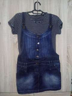 Overall Jeans Set [NEGO TIPIS]