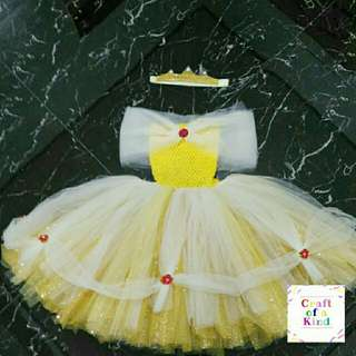 Belle inspired tutu dress