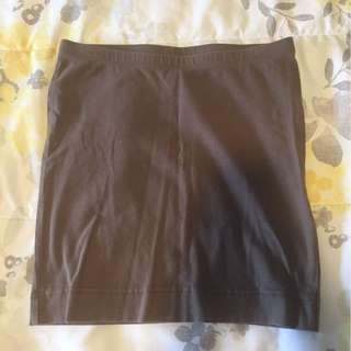Simple Brown/Dark Tan mini-skirt