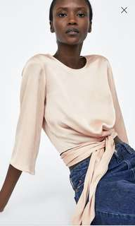 Zara wrap blouse