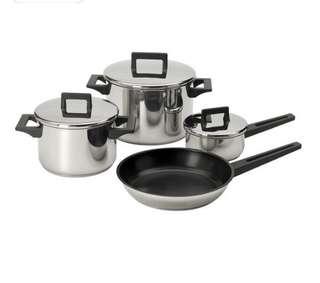 7 pcs Ikea Kitchen Stainless set