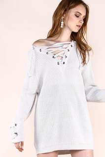 (RTP $29.80) YoungHungryFree Chloe Knit Top in White/Cream