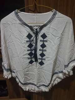 Baju bohemian impor thailand murah putih