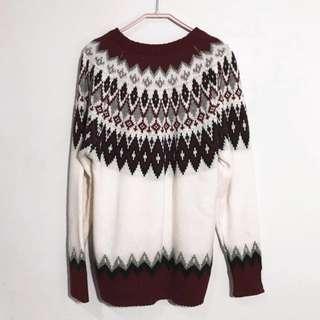 🚚 🚨降🚨GU 民族風針織毛衣