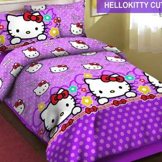 Sprei anak Hello kitty cute katun lokal