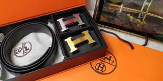 Authentic grade Hermes belt! Two in one!