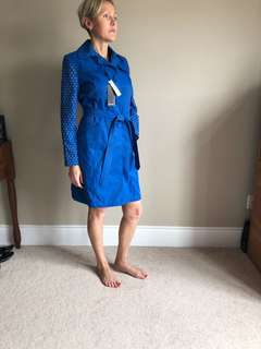 Bright Blue trench coat