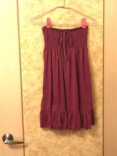 🚚 《現貨》 鬆緊 綁帶平口洋裝
