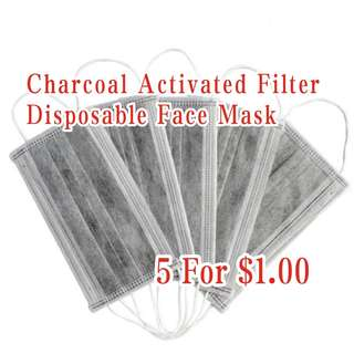 Charcoal Activated Filter Disposable Face Mask