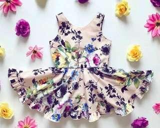 Baby Girl Floral Romper Dress