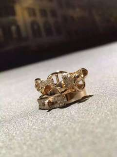 Hermes 愛瑪仕 MIX版鑽石戒指