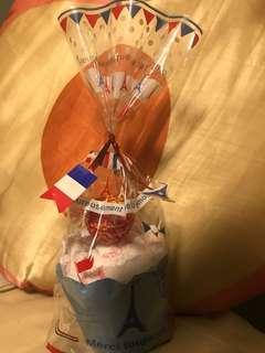 Handmade lollipops cupcake