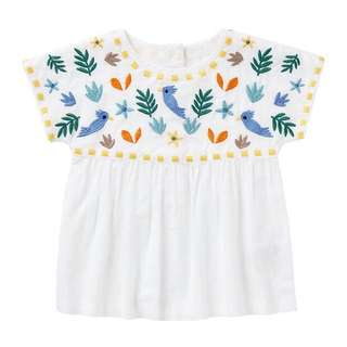 Sweet white embroidered top
