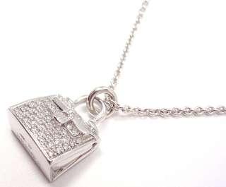 Hermes 愛瑪仕 Kelly 鑽石手袋項鏈