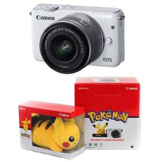 Camera Canon Eos M10 Pokemon White And Black Kredit Bisa
