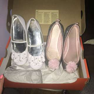 Girls shoes worn only on 1 occasion sizes on in pictures
