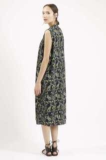 Long floral duster vest