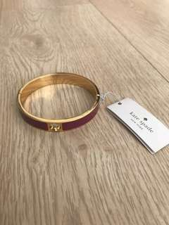 BNWT Authentic Kate Spade Gold/Purple Spade Bracelet