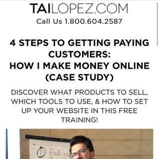 $927 Tai Lopez Course (How I make money online)
