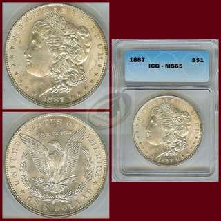 5pcs Morgan Dollar in MS65/MS65+ Grade